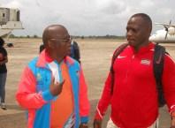 Julius Yego With the LOC Chairman Solomon Ogba