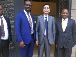 Obaseki with Chinese Ambassador to South Africa