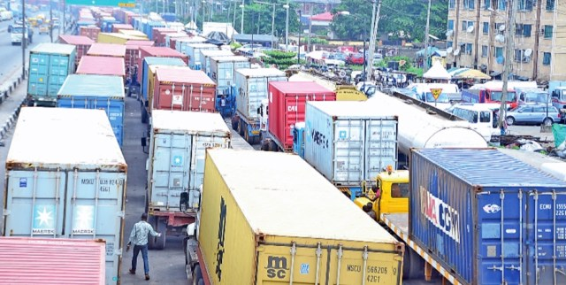 Typical Gridlock Along Apapa Road