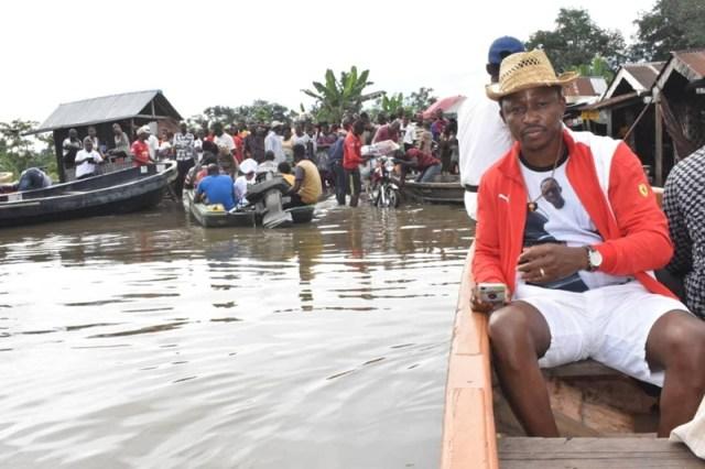 Friday Ossai Osanebi Inspects Flood Damages