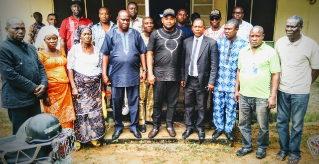 Mr. Okpure Israel Akegwure (Middle) flanked by Some APC Stakeholders Isoko North LGA
