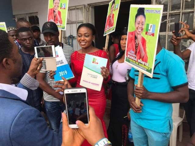 Queen Wanda Monye Picks APC Form