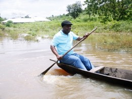 Uduaghan on an Inspection of Flood Ravaged Villages in Delta During the 201 Flooding