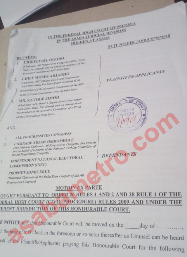 DELTA APC COURT CASE