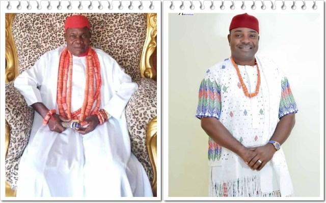 Obi of Umunede kingdom, His Royal Majesty, Dr Ezeagwu Ezenwali Agadagidi 1 and Member Representing Ika North East Constituency in the Delta State House of Assembly, Hon.Anthony Elekeokwuri