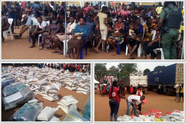 Relief Materials by the Nigerian Red Cross Society to Flood Victims in Delta State