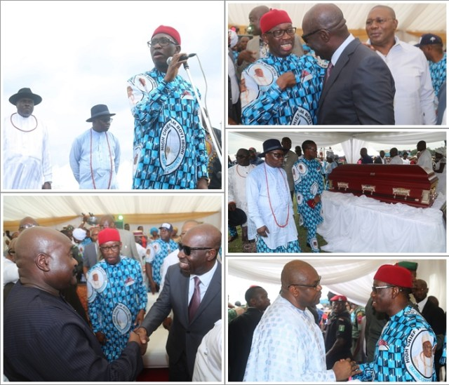 Dignitaries during a day of Tribute, in Hounor of Late High Chief William Ibori, in Oghara Delta State.