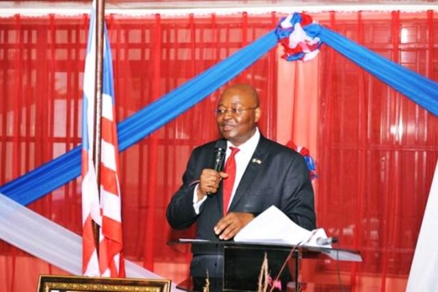 The Liberian Ambassador to Nigeria, Prof Al-Hassan Conteh