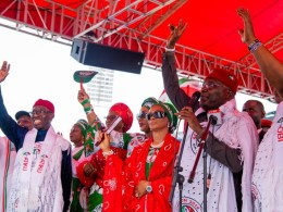 PDP Presidential Candidate, Atiku Abubakar speaking during PDP National Presidential Campaign in Asaba, Delta State