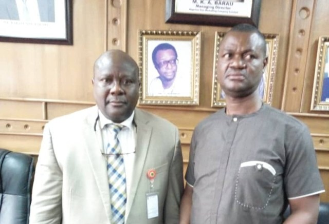 The Delta State Commissioner, Ministry of Oil and Gas, Mr Freeman Fregene and the Executive Director, Asset Management and Technical Services, NGC, Engr Emmanuel Akinsanya during a meeting in Warri on the instance of the state government over rumored relocation of the operational headquarters of the company from Warri.