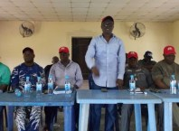 Comrade Ovuozourie Macaulay addressing Members of Isoko Nation For Okowa