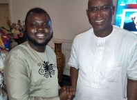 Comrade Efemena Umukoro Congratulating Senator Elect for Delta Central District, Senator Ovie Omo-Agege