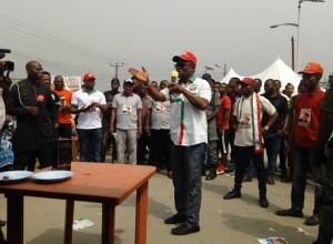 Comrade Ovuozourie Macaulay Campaigning for PDP Candidates