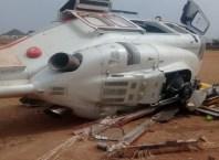 Crashed Helicopter Conveying Vice President Osinbajo
