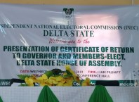Presentation of Certificates of Return to Elected Candidates in Delta State by INEC on March 27, 2019