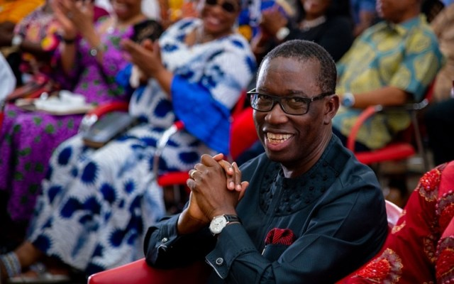 Governor Ifeanyi Okowa During His Second Term Victory Thanksgiving at Government House Chapel, Asaba