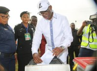 Governor Okowa Casting His Vote