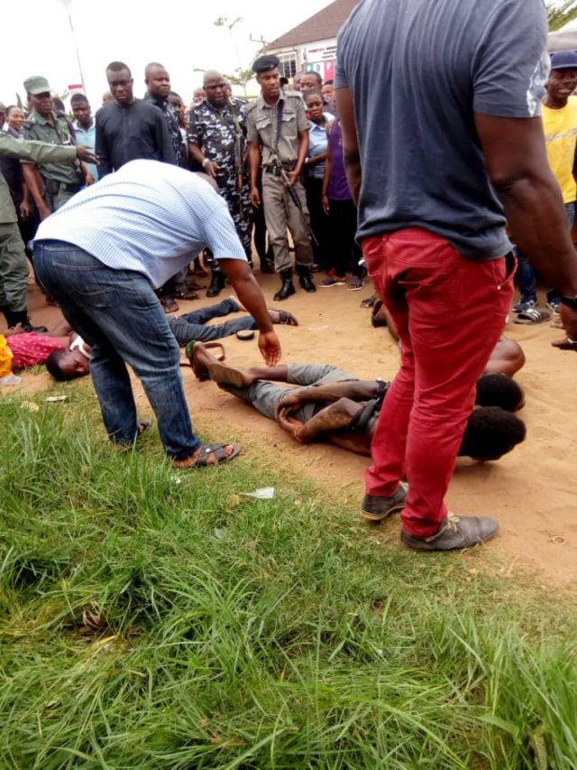 The Suspected Ritualists apprehended by Police