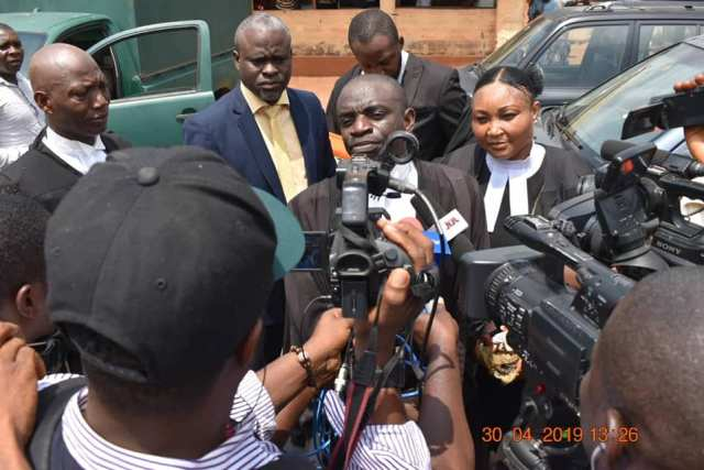 Mr Omamuzo Erebe, Director of Legal Drafting, Delta State Ministry of Justice Speaking to Journalists