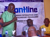 DOPF Chairman, Emmanuel Enebeli during the 2nd edition of FRONTLINE