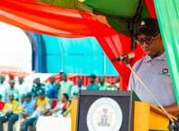 Delta State Governor, Senator Ifeanyi Okowa during 2019 Workers' Day Celebrationat St. Patrick's College, Asaba
