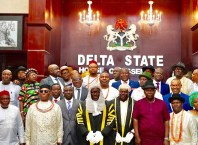 Lawmakers of the Seventh Assembly of the Delta State House of Assembly, Inaugurated on Monday, June 10, 2019