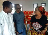 Comr Macaulay (M) during the Free Medical Exercise organized for his Political Family