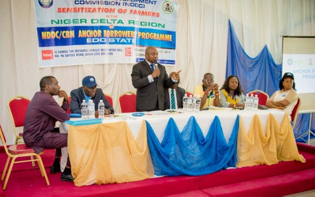 Sensitization of Rural Farmers in Edo State on NDDC/CBN Anchor Borrowers Programme