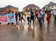 Asaba Residents Protest Against BEDC at Government House Gate