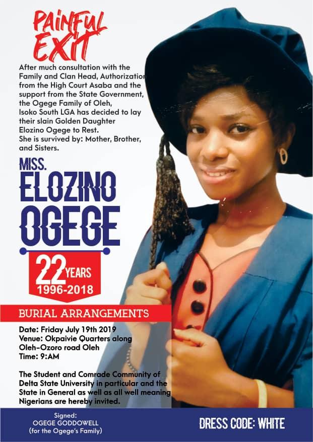 Burial of Elozino Ogege