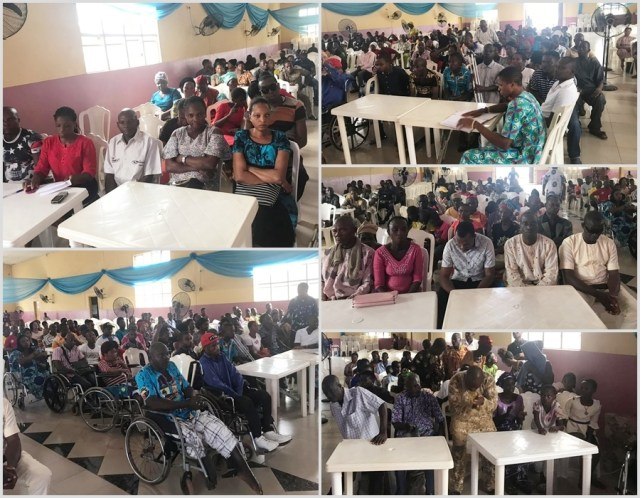Governor Okowa 60th Birthday Celebrated with Physical Challenged Persons in Ika North-East LGA