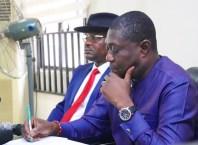 Mr James Augoye, Delta State Commissioner for Works and Mr Charles Aniagwu, Commissioner for Information