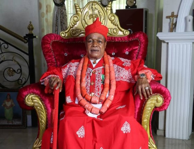 King Charles Ayemi-Botu (JP) OFR, Paramount Ruler of Seimbiri Kingdom in Burutu local government area of Delta State.