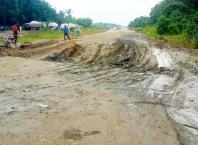 One the Bad Portions of the Warri-Benin Expressway in Delta State