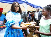 Delta State First Lady, Dame Edith Okowa Distributing Gift Items