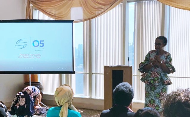 Dame Edith Okowa Speaking on Sickle Cell Disorder at a Side Event during the 74th UN General Assembly