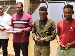 Osasu Fred Akioyamem, Ehis Ehizoghie Egheomwan, Chukwuemeka Chanimuya and Oris Karim Suspected Yahoo Boys Arrested by EFCC
