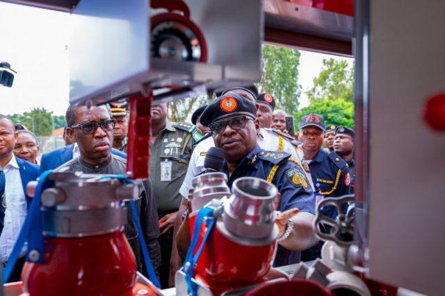 Okowa Commissions Fire Fighting Trucks