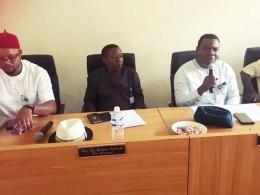 Hon Anthony Elekeokwuri, (right) Chairman, Delta State House Committee on Public Accounts