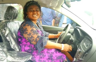 Mrs Esiedafe Doris Toyin, Best Head Teacher in Delta State and a recipient of Car Reward