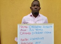 Oyediran Joseph, FBI Suspect Convicted by EFCC for Internet Fraud