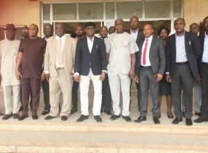 Members of the Delta state House of Assembly House Committee on Trade and investments led by Hon Matthew Opuoru visit to Commissioner in charge of the Ministry, Hon Chika Ossai.