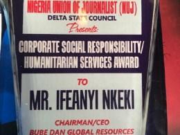 Bube Dan Global Resources Limited Bags Delta NUJ Award