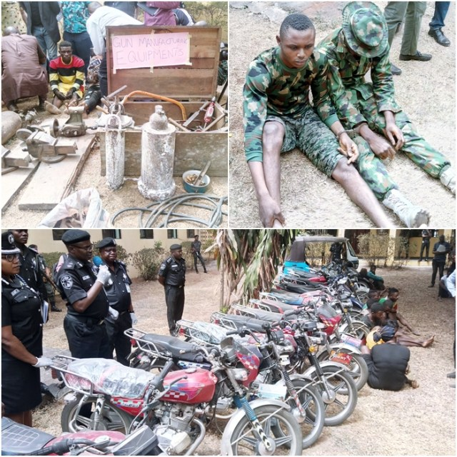 Some paraded criminal suspects and recovered items by Delta Police