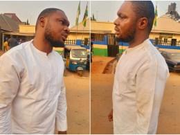 Ruffled Harrison Gwamnishi after the Alleged Assault by Oshimili South Taskforce