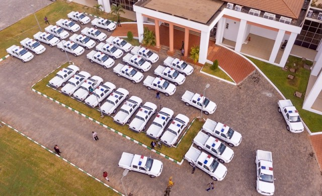 The 35 Patrol Vans Presented to Security Agencies in the Delta by the State Government.