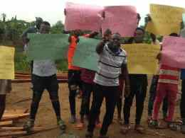 Timber Dealers Association, Burutu local government area, Delta State Protesting the Extortion by Bayelsa Revenue Collectors