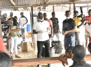 Hon Emomotimi Guwor Sensitizing Warri South-West Constituents on Precautionary measures against Covid-19