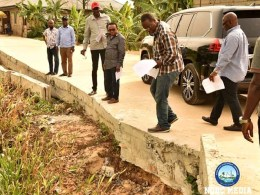 Executive Director of Projects, Dr. Cairo Ojougboh, Others during the inspection of the NDDC road projects in some Niger Delta States