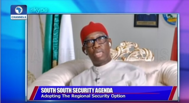 Delta State Governor, Senator Ifeanyi Okowa Speaking on Channels Television